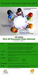 Uitnodiging Kick Off - 22 april